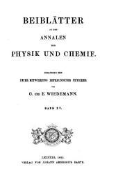 Beiblätter zu den Annalen der Physik und Chemie: Band 15