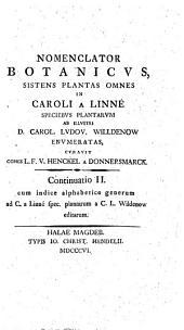 Nomenclator Botanicus. Continuation II.