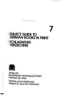 Subject guide to German books in print PDF