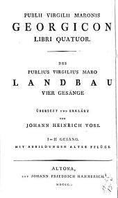 Ländliche gedicthe übersezt und erklärt von J.H. Voss: Band 3