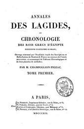 Annales des Lagides ou chronologie des rois grecs d'Egypte, successeurs d'Alexandre-le-Grand: Volume1