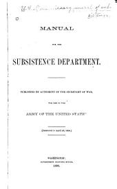 Manual for the Subsistence Department