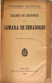 Diario de sesiones de la camara de Senadores: Volumen 1894