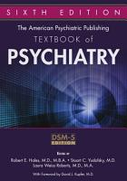 The American Psychiatric Publishing Textbook of Psychiatry  Sixth Edition PDF