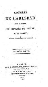 Congrès de Carlsbad: Volumes1à2