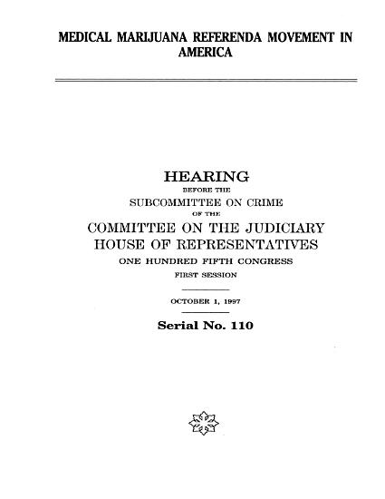 Medical Marijuana Referenda Movement in America PDF