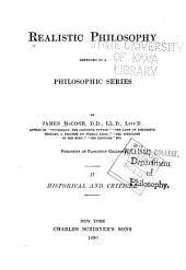 Realistic Philosophy Defended in Philosophic Series: Volume 2