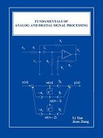 Fundamentals of Analog and Digital Signal Processing PDF