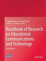 Handbook of Research on Educational Communications and Technology PDF