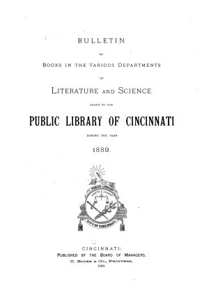 Annual List of Books Added to the Public Library of Cincinnati