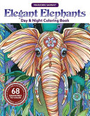 Elegant Elephants Day   Night Coloring Book