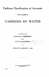 Uniform classification of accounts for class B carriers by water