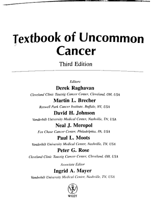Textbook of Uncommon Cancer PDF