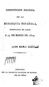 Discurso preliminar leido en las Córtes al presentar la Comisión de Constitucion el proyecto de ella