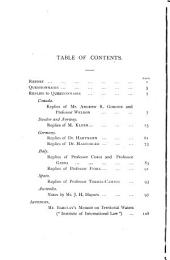 Territorial Waters: Questionnaire, Replies & Report, Volume 1