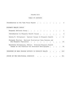 Report of the Secretary s Task Force on Black   Minority Health