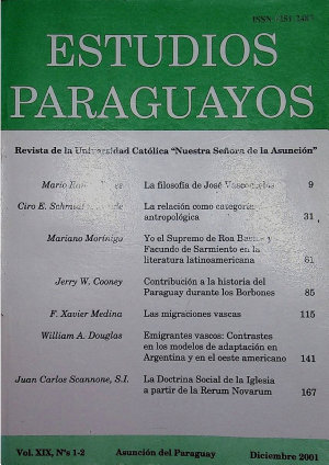 Revista Estudios Paraguayos 2001   N  1 y 2   Vol  XIX PDF