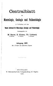 Centralblatt für Mineralogie, Geologie und Paläontologie: Band 1907