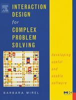Interaction Design for Complex Problem Solving PDF
