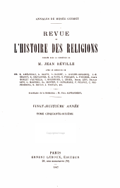 Revue de l'histoire des religions: Volume56
