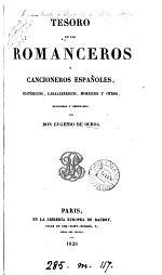 Tesoro de los romanceros y cancioneros españoles, recogidos y ordenados por E. de Ochoa