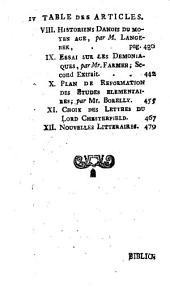 Bibliothèque des sciences, et des beaux arts: Volume45
