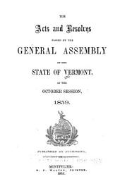 Acts and Laws, Passed by the Legislature of the State of Vermont, at Their Session at Windsor [etc.]