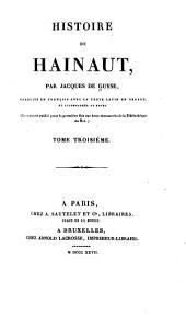 Histoire de Hainaut: Volume3