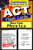 Act Test Prep Physics Review Exambusters Flash Cards Workbook 13 Of 13