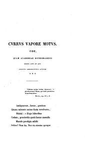 Currus vapore motus: ode