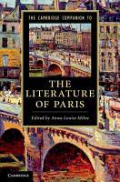 The Cambridge Companion to the Literature of Paris PDF