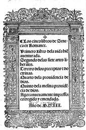 Los cinco libros de Seneca en romance ...