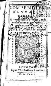 Compendium Manualis Navarri... Petro Alagona... auctore