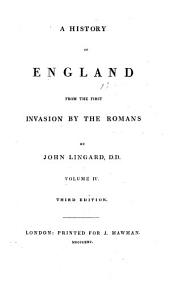 A History of England from the First Invasion by the Romans: Volume 4