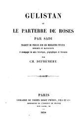 Gulistan ou le parterre de roses