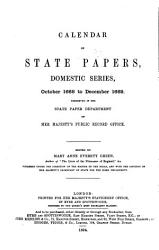 Calendar of State Papers  Domestic Series  of the Reign of Charles II PDF