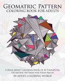 Geometric Pattern Coloring Book for Adults