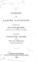 A Vocabulary of the Yoruba Language PDF