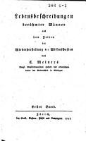 Lebensbeschreibungen ber  hmter M  nner aus den Zeiten der Wiederherstellung der Wissenschaften PDF