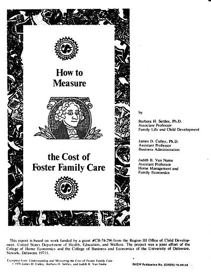 How to Measure the Cost of Foster Family Care PDF
