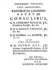 Sigeberti Havercampi Dissertationes de Alexandri Magni numismate: quo quatuor summa orbis terrarum imperia continentur ut et de nummis contorniatis cum figuris aeneis