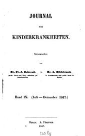 Journal für Kinderkrankheiten: Band 9