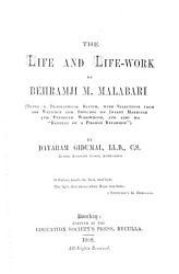 The life and life work of Behramji M aharbanji  Malabari PDF