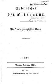 Jahrbucher der literatur: Bände 25-26