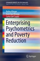 Enterprising Psychometrics and Poverty Reduction PDF