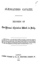 Records of two years'Christian work in Italy