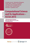 Computational Science and Its Applications    ICCSA 2015 PDF