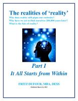 The Realities of Reality   Part I  It All Starts from Within PDF