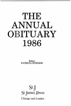 Annual Obituary  1986 PDF