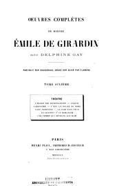 Oeuvres complètes de madame Émile de Girardin, née Delphine Gay: Volume6